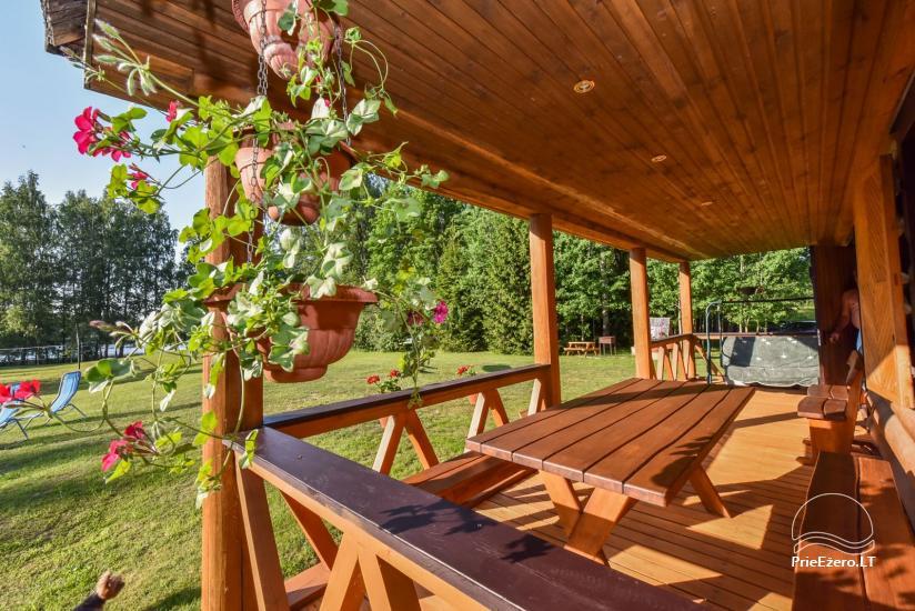 Log house - villa and sauna near Lake Auslo in Zarasai district - homestead AUSLA - 22
