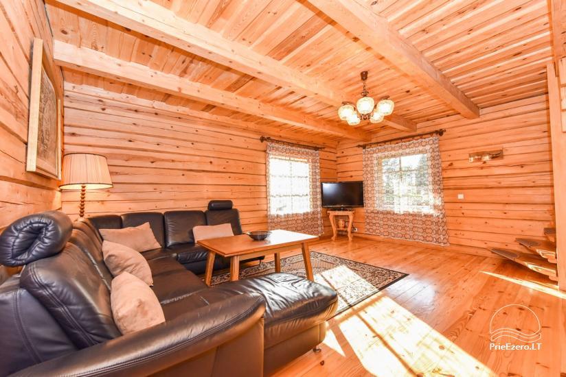 Log house - villa and sauna near Lake Auslo in Zarasai district - homestead AUSLA - 24