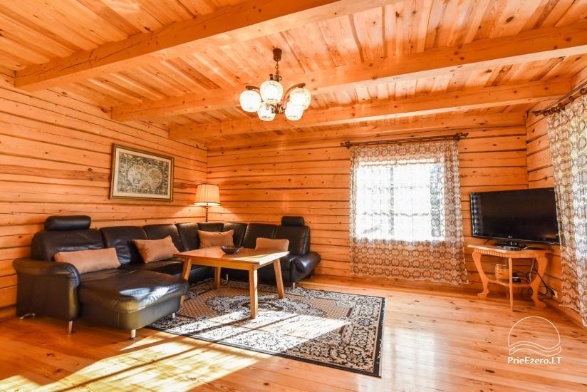 Log house - villa and sauna near Lake Auslo in Zarasai district - homestead AUSLA - 25