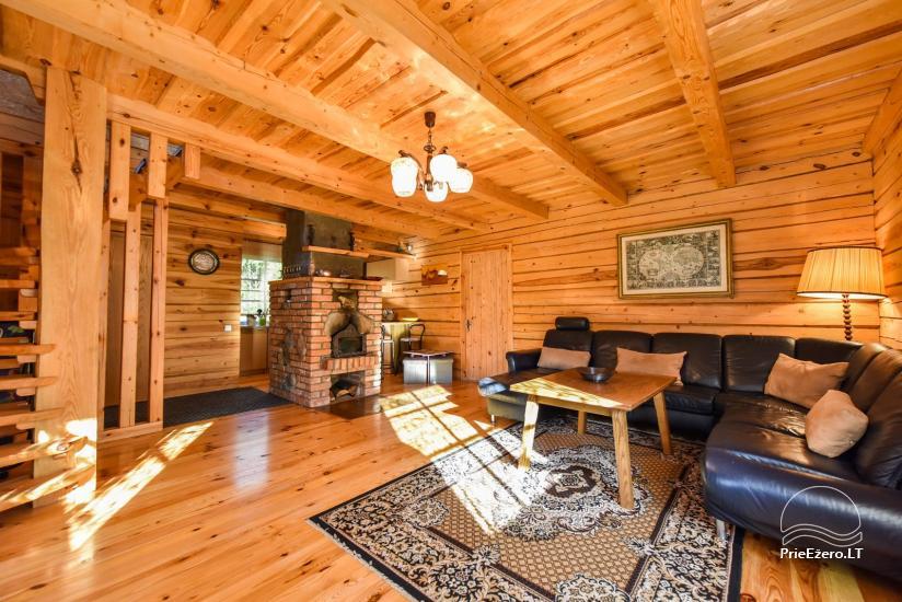 Log house - villa and sauna near Lake Auslo in Zarasai district - homestead AUSLA - 26
