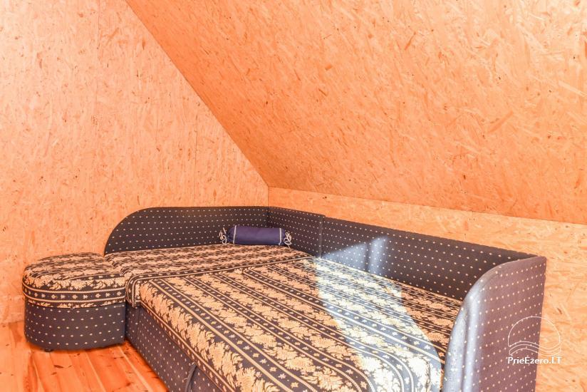 Log house - villa and sauna near Lake Auslo in Zarasai district - homestead AUSLA - 34