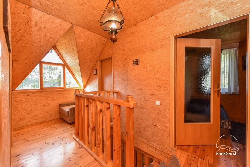 Log house - villa and sauna near Lake Auslo in Zarasai district - homestead AUSLA - 31