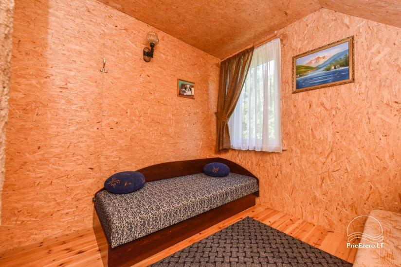 Log house - villa and sauna near Lake Auslo in Zarasai district - homestead AUSLA - 37