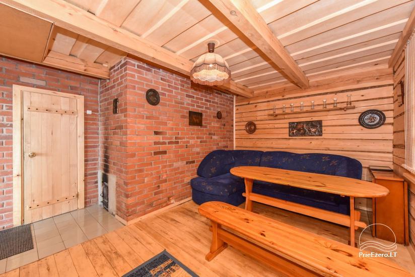 Log house - villa and sauna near Lake Auslo in Zarasai district - homestead AUSLA - 47