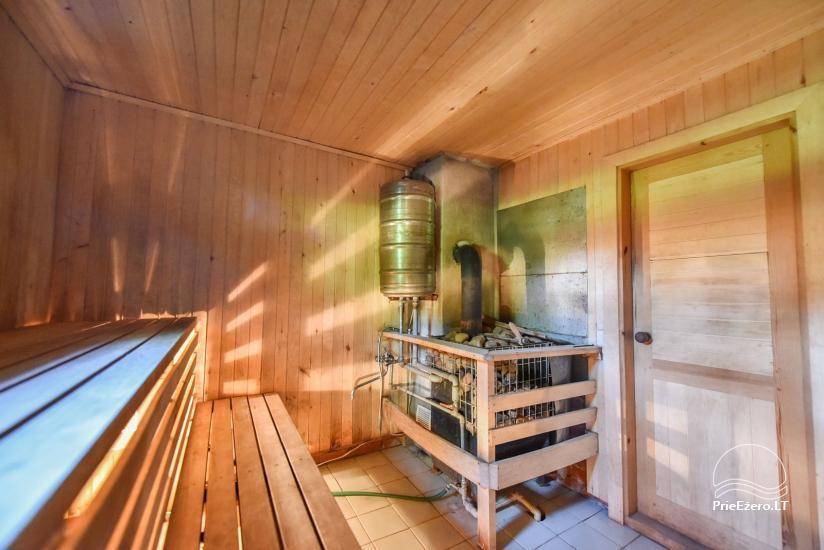 Log house - villa and sauna near Lake Auslo in Zarasai district - homestead AUSLA - 48
