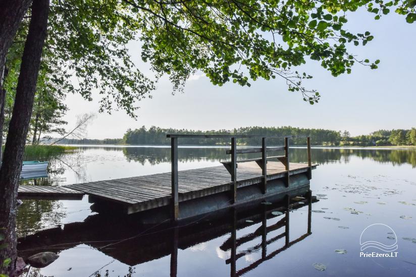 Log house - villa and sauna near Lake Auslo in Zarasai district - homestead AUSLA - 51