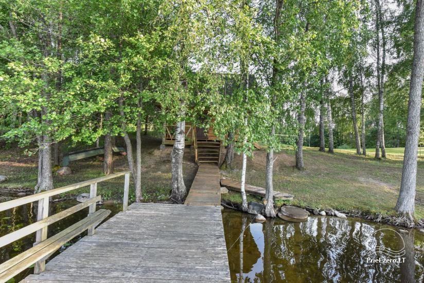 Log house - villa and sauna near Lake Auslo in Zarasai district - homestead AUSLA - 45