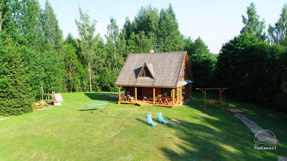 Бревенчатый дом и баня у озера Аускло в Зарасайском районе - усадьба AUSLA - 6