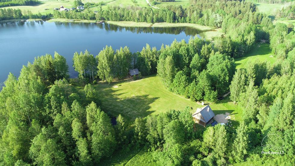 Бревенчатый дом и баня у озера Аускло в Зарасайском районе - усадьба AUSLA - 2