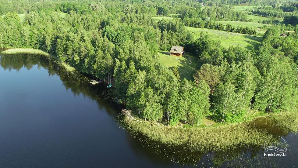 Log house - villa and sauna near Lake Auslo in Zarasai district - homestead AUSLA - 54
