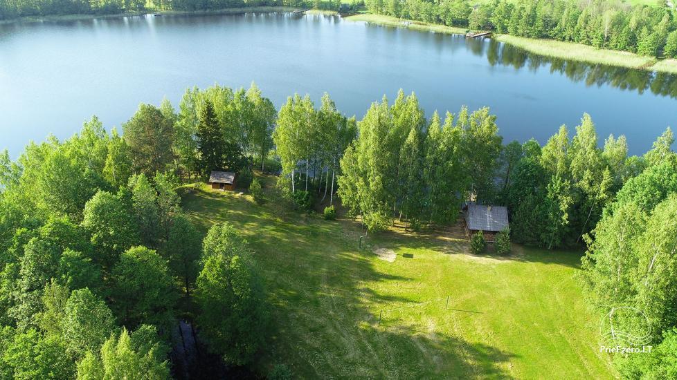Log house - villa and sauna near Lake Auslo in Zarasai district - homestead AUSLA - 14