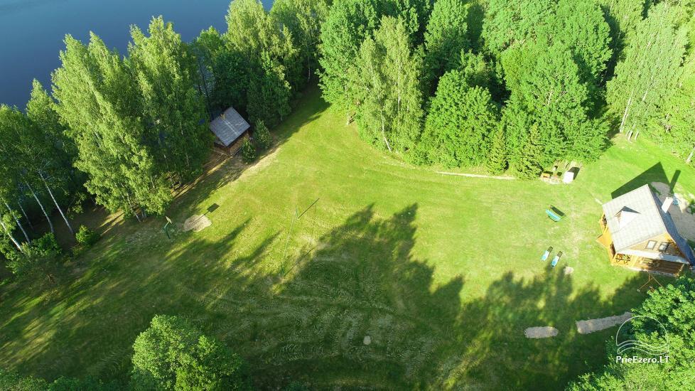 Бревенчатый дом и баня у озера Аускло в Зарасайском районе - усадьба AUSLA - 3