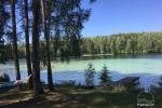 Bauernhaus zu vermieten am Ufer eines Sees in Moletai. Es gibt Sauna, Boot, eine Laube ...