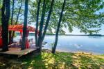 Little holiday houses for rent in Moletai region at the lake