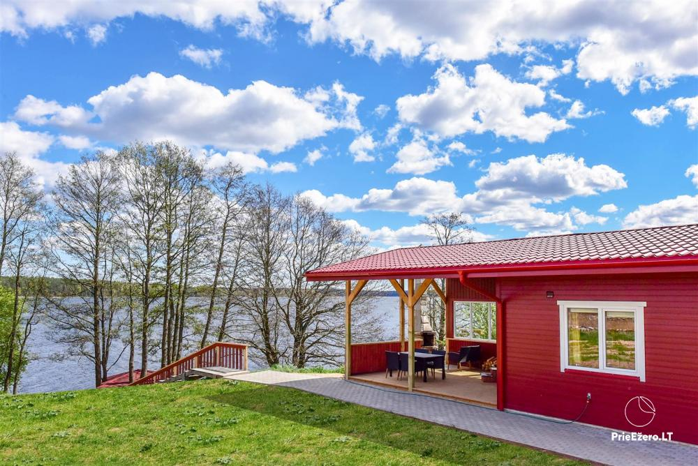 Little holiday houses for rent in Moletai region at the lake - 1