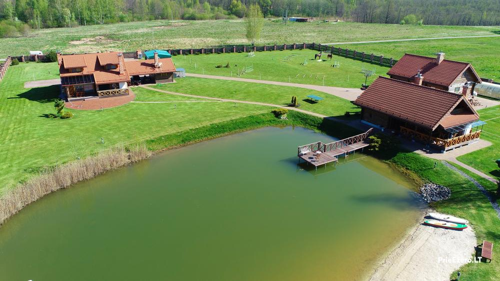 Homestead near Vilnius, on the shore of the lake: horse riding, sandy beach, entertainments - 41