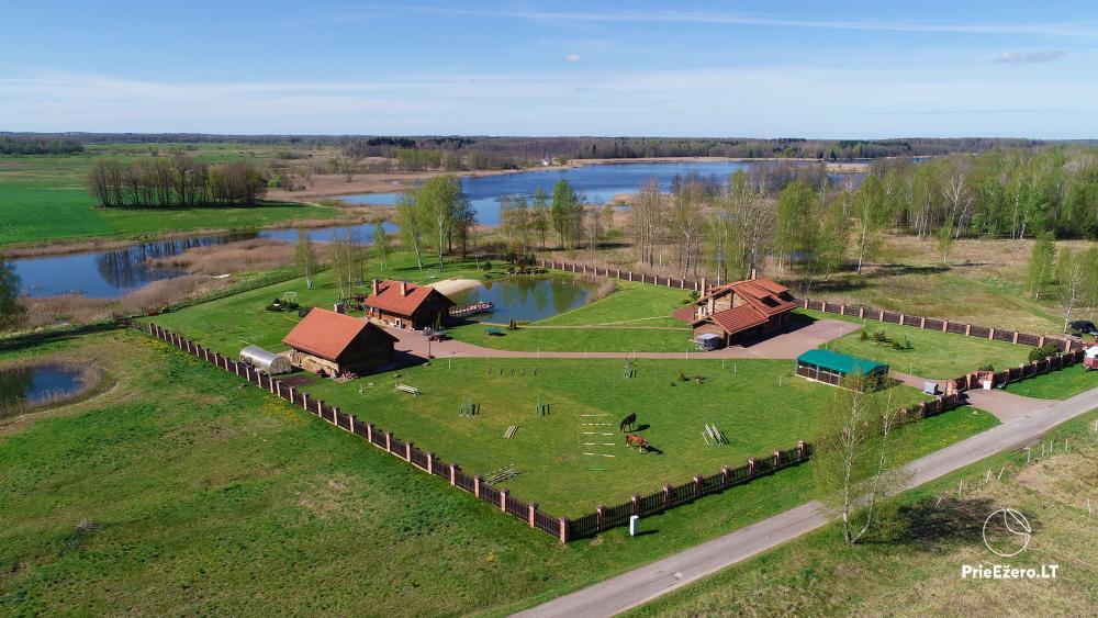 Homestead near Vilnius, on the shore of the lake: horse riding, sandy beach, entertainments - 2
