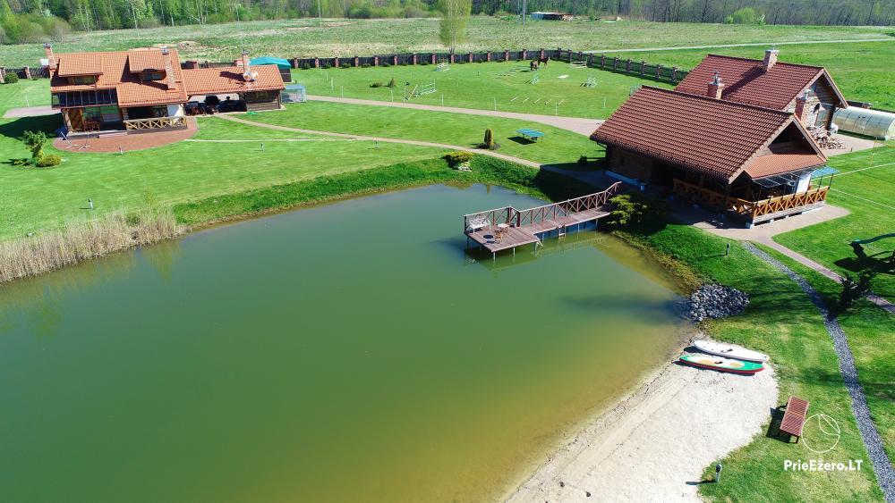 Homestead near Vilnius, on the shore of the lake: horse riding, sandy beach, entertainments - 39