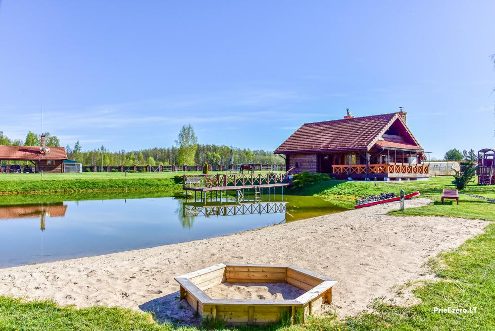 Homestead near Vilnius, on the shore of the lake: horse riding, sandy beach, entertainments - 1