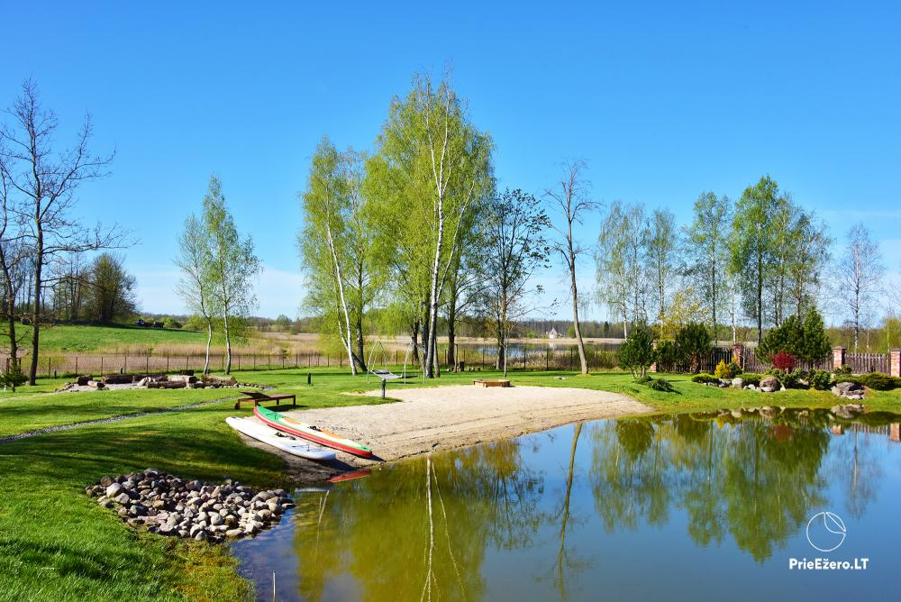 Homestead near Vilnius, on the shore of the lake: horse riding, sandy beach, entertainments - 6