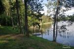 Zalktyne campsite near the lake Asveja in Lithuania