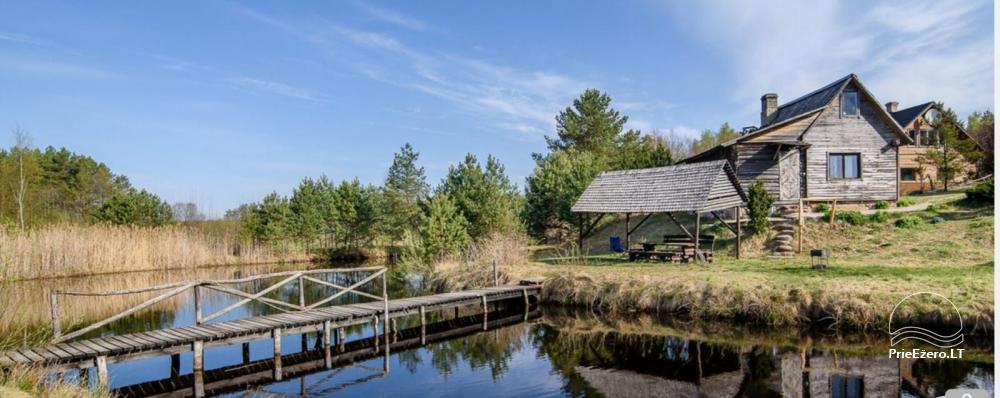 Homestead on the shore of the lake: sauna, large outdoor bathtub, banquet hall - 2