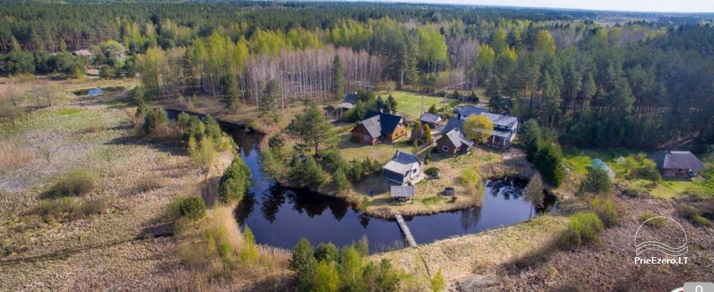 Homestead on the shore of the lake: sauna, large outdoor bathtub, banquet hall - 1