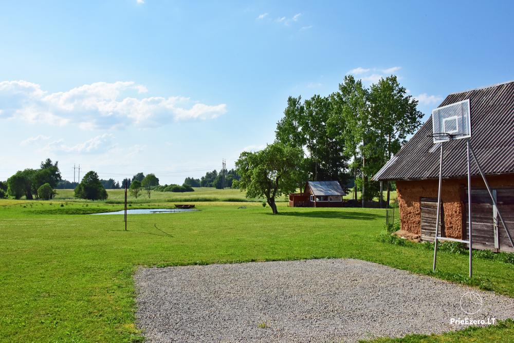 Countryside homestead near the lake in Lithuania Prie koptos - 14