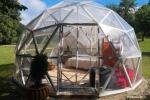 Dome summerhouse for rent on the lake shore