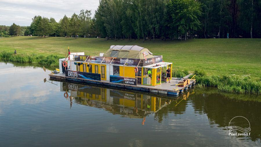 Raft NEMO for rent on the lake Aviris: accommodation, catering, sauna, celebrations! - 1