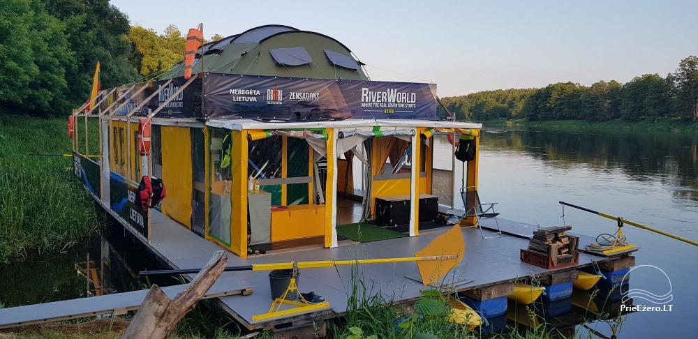 Raft NEMO for rent on the lake Aviris: accommodation, catering, sauna, celebrations! - 11
