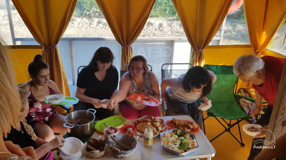 Raft NEMO for rent on the lake Aviris: accommodation, catering, sauna, celebrations! - 33