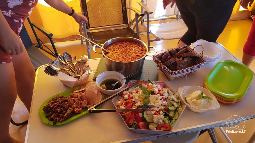 Raft NEMO for rent on the lake Aviris: accommodation, catering, sauna, celebrations! - 34
