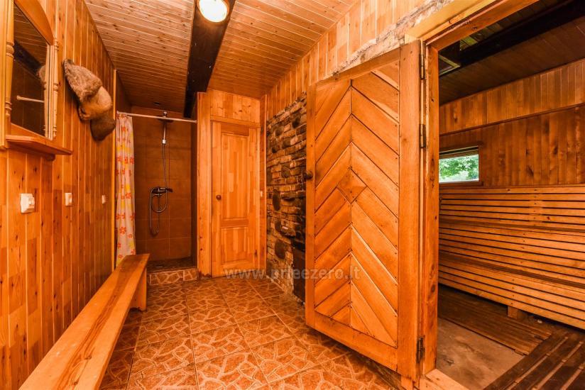 Bathhouse: hall, sauna, bedrooms
