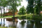 Homestead Lazduona in Kaunas district: sauna, hot tub, kayak rental
