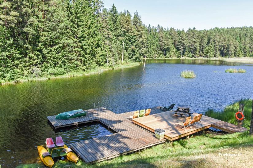 Holiday cottages, apartment, bathhouse near the lake Plateliai Saules slenis - 60