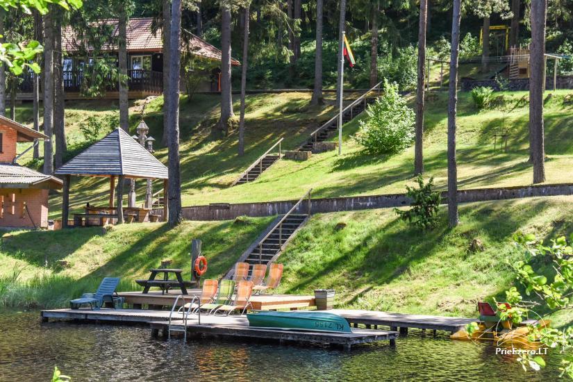 Holiday cottages, apartment, bathhouse near the lake Plateliai Saules slenis - 61