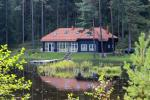 "Holiday cottages, apartment, bathhouse near the lake Plateliai ""Saules slenis"""