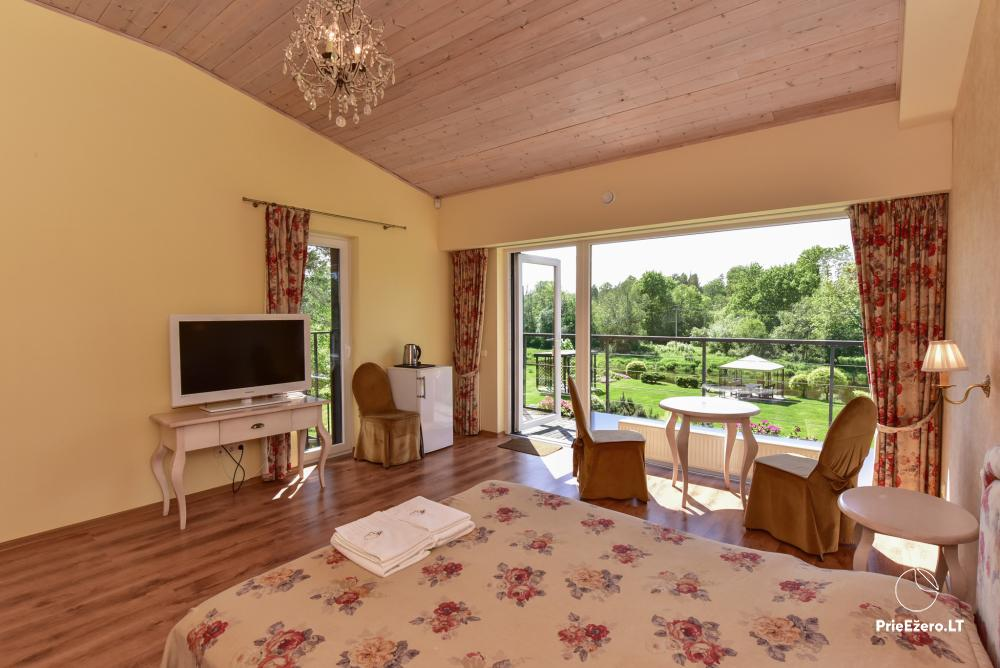 Homestead in Anyksciai region Pine Trail: accommodation, banquets and conference hall, bath, hot tub - 11