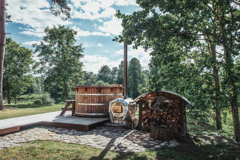 Homestead in Anyksciai region Pine Trail: accommodation, banquets and conference hall, bath, hot tub - 13