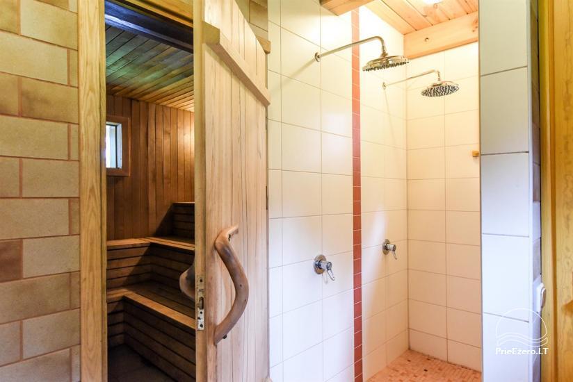 Сельский дом и баня у озера в Игналинском районе - 35