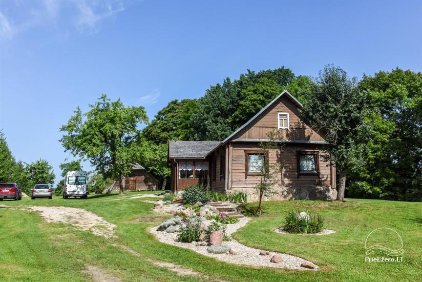 Сельский дом и баня у озера в Игналинском районе - 19