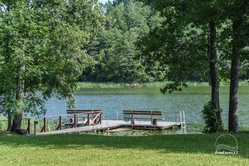 Сельский дом и баня у озера в Игналинском районе - 42