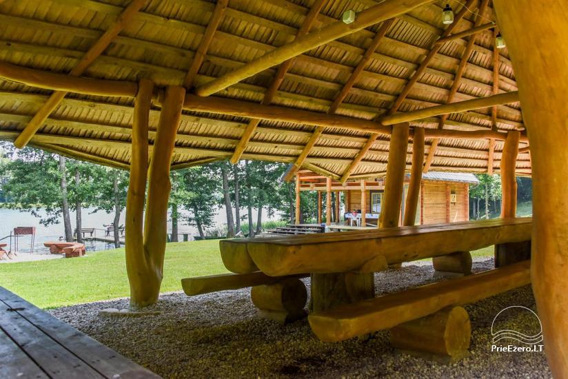 Сельский дом и баня у озера в Игналинском районе - 14