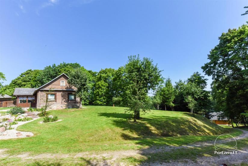 Сельский дом и баня у озера в Игналинском районе - 20