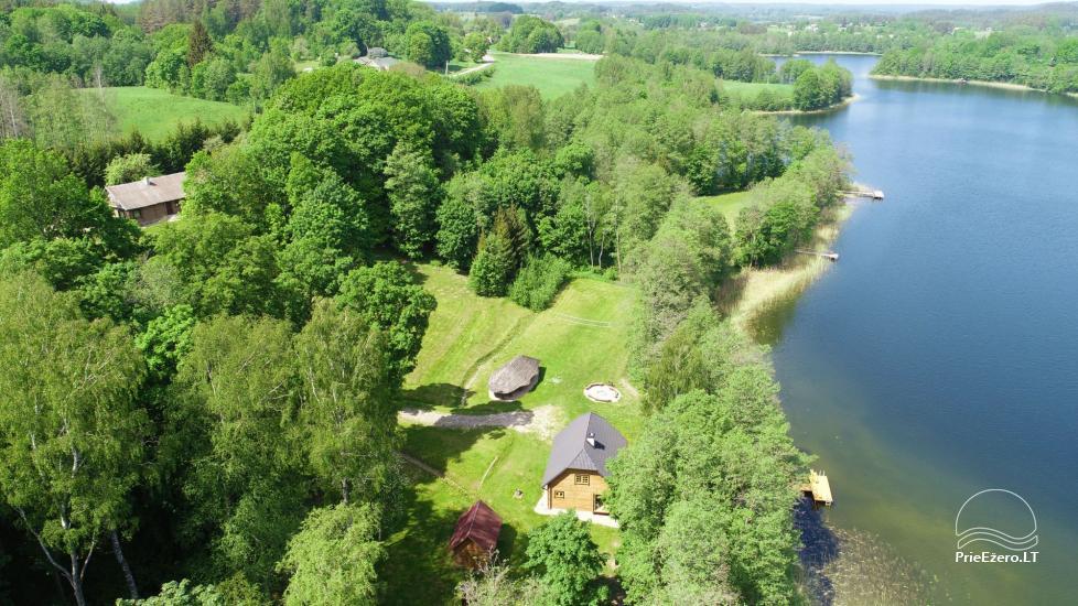 Сельский дом и баня у озера в Игналинском районе - 13