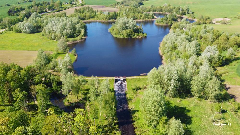 Manor Taujėnų dvaras in Ukmergės district by the river - 80