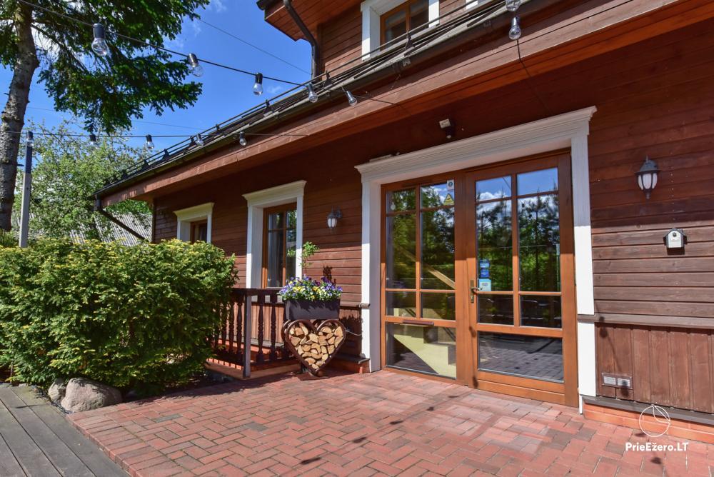 Villa for rest and celebrations - Spa Villa Trakai: hall, Jacuzzi and sauna, accommodation - 3