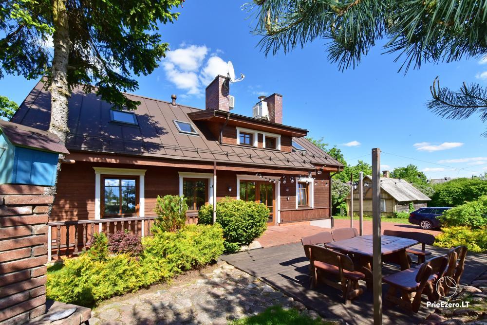 Villa for rest and celebrations - Spa Villa Trakai: hall, Jacuzzi and sauna, accommodation - 1