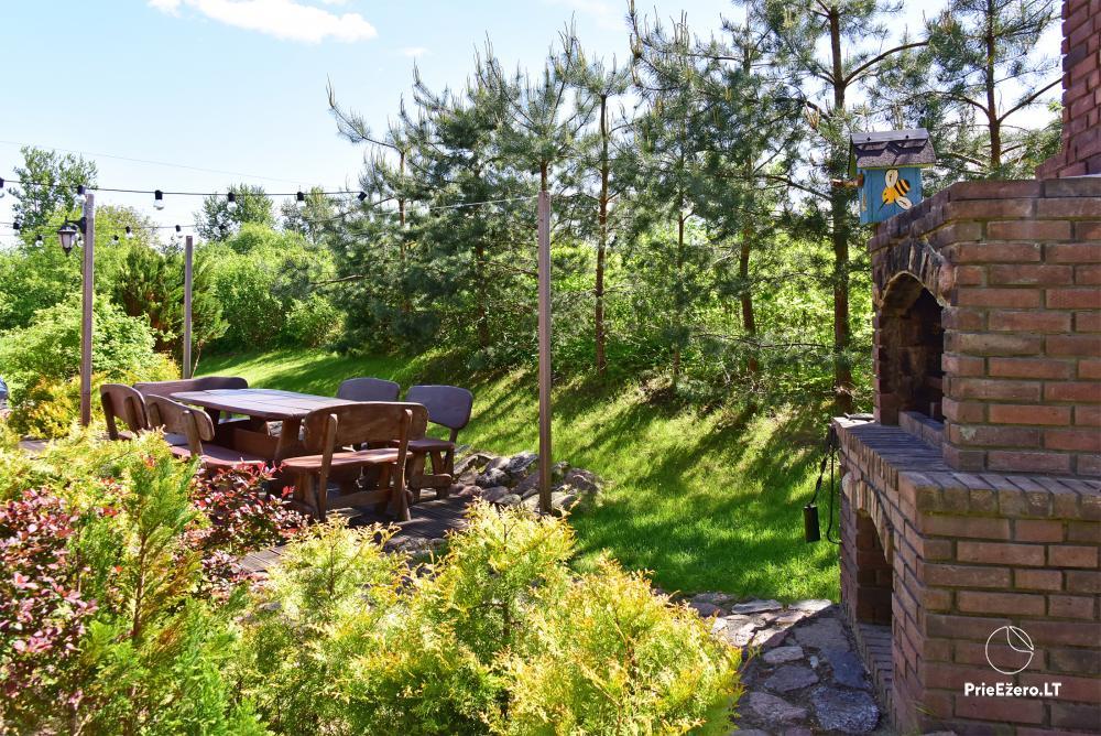 Villa for rest and celebrations - Spa Villa Trakai: hall, Jacuzzi and sauna, accommodation - 13